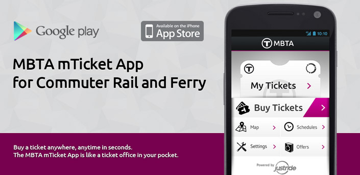 MBTA mTicket in the Google Play store.
