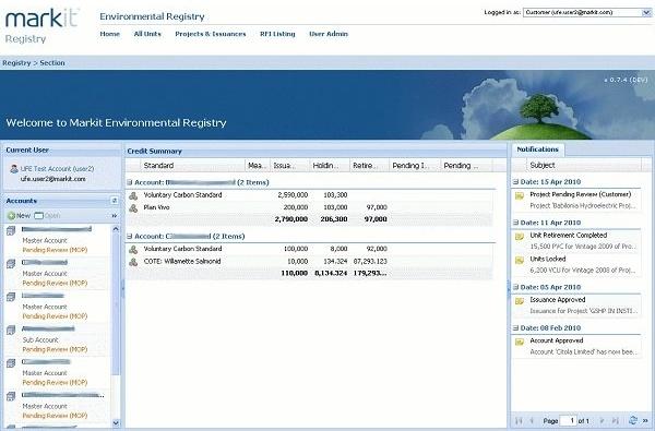 Registry Landing Page